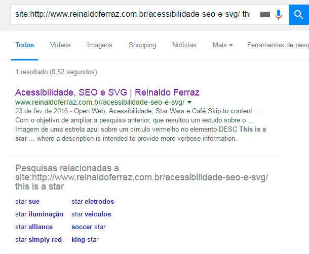 Resultado de busca no Google por uma imagem publicada no site